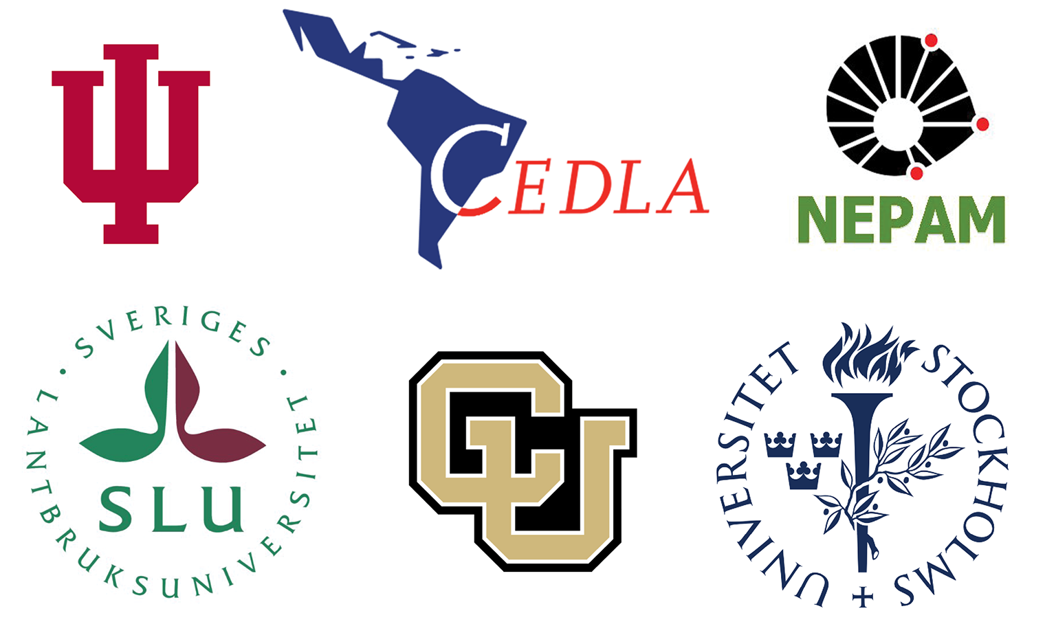 Logos of project institutions associated with the AGENTS (Amazonian Governance to Enable Transformations to Sustainability) project.